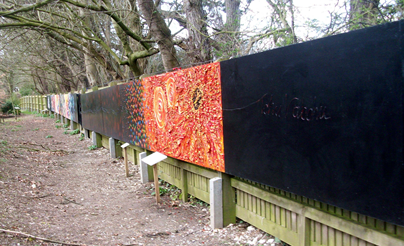 View of the mural from the beginning of the Cosmic Walk  © Megan Clay 2008