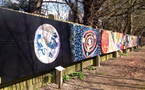 A view from planet Earth looking back through the Cosmic Walk mural © Megan Clay 2008